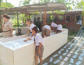 ปฏิบัติกิจกรรมบำเพ็ญ โรงเรียนบ้านหนองโกได้จัดกิจกรรมบำเพ็ญประโยชน์