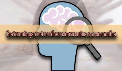 โรคจิตเภท ข้อมูลการสำรวจโรคทางการแพทย์ และระยะของรอยโรค